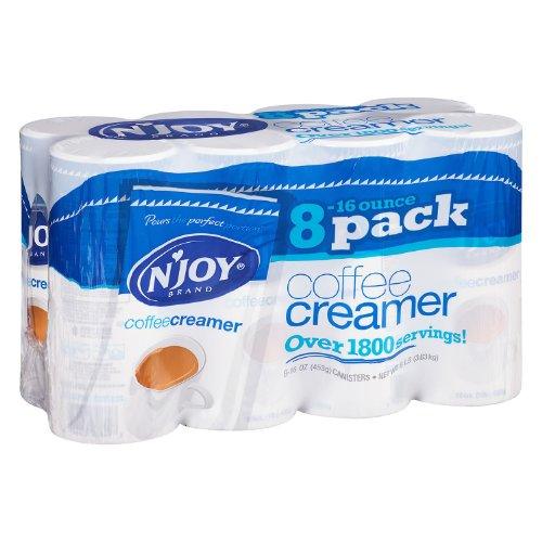 N'Joy 827783 Non-Dairy Coffee Creamer, 16 oz Canister, 8/Carton