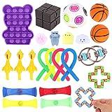 Herefun 24Pcs Juguetes Sensoriales Kit, Fidget Toys Sensory Juguetes Antiestres para Aliviar el Estrés, Juguetes Fidget Autismo Sensorial Juguete, Fidget Toys para Niños Adultos