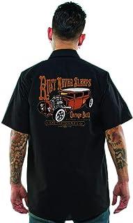 Lucky 13 Men's The Rust Never Sleeps Work Shirt Black