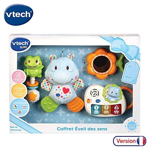 VTech - Coffret naissance - Eveil des sens - Cadeau de naissance avec premiers jouets de Bébé - bleu (80-522005)