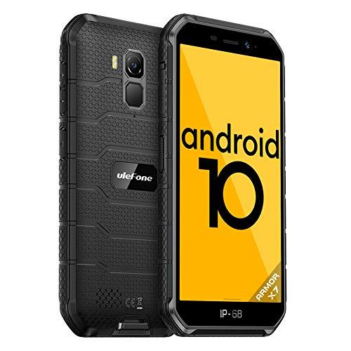 Rugged Smartphone Offerta Del Giorno Android 10 4G Ulefone Armor X7 Cellulare Antiurto Fotocamere Impermeabili 13MP+5MP NFC OTG Telefono Resistente 5,0 Pollici 2GB+16GB Cellulari Offerte 4000mAh(Nero)