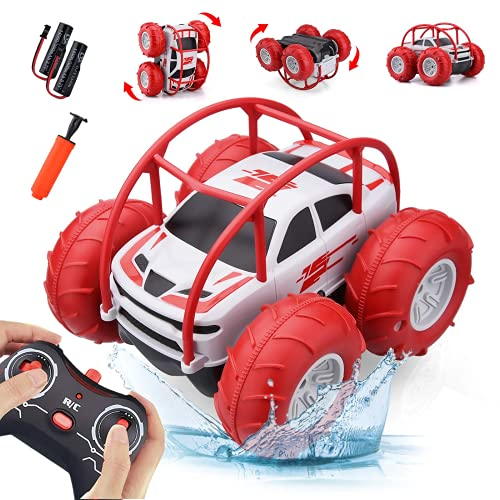 Wasserdichtes Ferngesteuertes Auto,Rot-Grün Optional,Aufblasbare Reifen,4WD All-Terrain RC Offroad,Kinder Elektrospielzeug für Mädchen,Jungen 3-12 Jahre,Weihnachts Geburtstag Geschenke