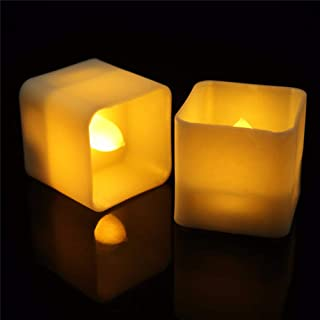 12pcs Flameless Flickering Candles Electric LED Tealight for Xmas Halloween Home Decor Wedding Festival Party Birthday - W...