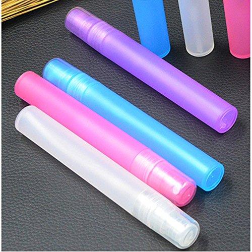 Distinct® 4pcs 10ml Parfum Vaporisateur Bouteilles Vapeur Atomiseur Stylo Plastique Voyage Mini Rechargeable