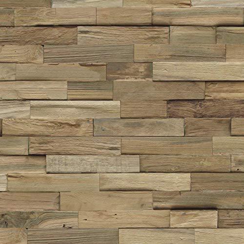 INDO Edel-Holz-Wandverkleidung Teak FSC (Nature)