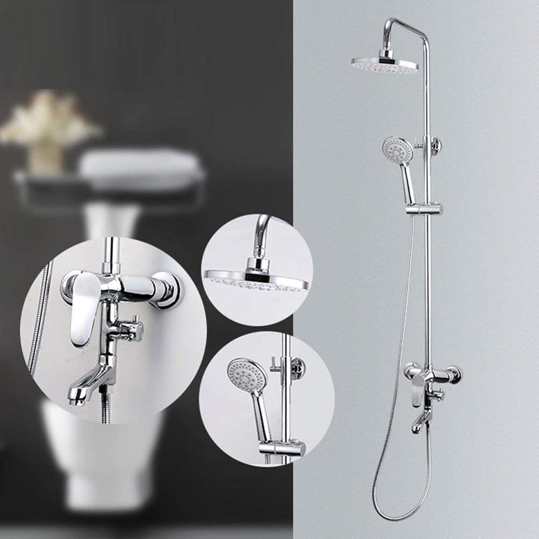 Modernen minimalistischen Stil der dritte Gang Wasserhahn Dusche, verstellbare Brause, Hand- und Kopfbrause system