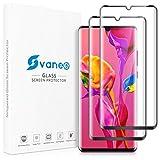 Vanee Verre Trempé pour Huawei P30 Pro [Lot de 2], Film Protection Écran Vitre pour Huawei P30 Pro [Support du capteur d'empreintes digitales, Case Friendly, Sans Bulles, 3D Couverture Complète]
