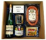 Lote Gourmet de Productos Vascos Premium - Basque Deli - 6 Productos (Txakoli, Txistorra, Queso Ahumado Idiazabal, Bonito del Norte, Anchoas del Cantábrico y Guindillas de Ibarra)