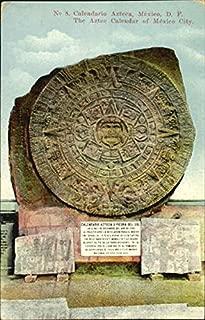 Calendario Azteca O Piedra Del Sol Mexico Original Vintage Postcard