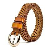 YIBANG-DIANZI Cinturón Diario, Cinturón de Mujer Cinturón de Cuero con Cuerpo Hueco Dama Elegante Cinturón de cinturón de Todo Tipo Uso Diario (Size : S)