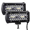 Kraumi LED Arbeitsscheinwerfer 7 Zoll 300W Cree LED Zusatzscheinwerfer 27,000lm Led Scheinwerfer 12V Auto Scheinwerfer Offroad Flutlicht Wasserdicht IP67 Arbeitslicht(2 Stück)