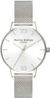 Olivia Burton Womens Quartz Watch, Analog Display and Stainless Steel Strap OB16MD86