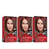 REVLON Colorsilk Beautiful Color Permanent Hair Color with 3D Gel Technology & Keratin, 100% Gray Coverage Hair Dye, 27 Deep Rich Brown, 4.4 oz (Pack of 3)