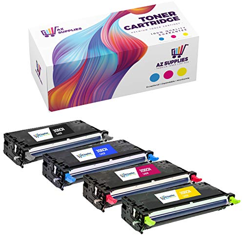AZ Supplies Compatible Toner Cartridges Replacement for Dell 3130, 330-1194, 330-1198, 330-1200, 330-1204 for use in Dell 3130, Dell 3130CN, Dell 3130CND Series Printers (B, C, Y, M, 4-Pack).