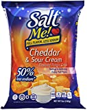 SaltMe! Cheddar & Sour Cream Better For You Potato Chips - 6ct 5oz Bags - 50% Less Sodium, Kosher,...