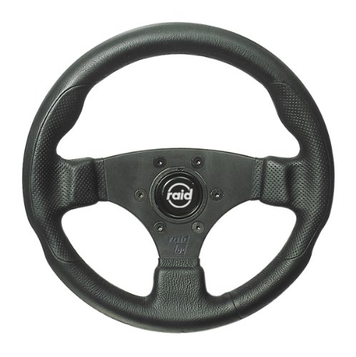 Raid 44280 18 Sportlenkrad hp Sport 280 mm Durchmesser schwarz mit schwarzer Speiche und perforiertem Griffbereich mit ABE