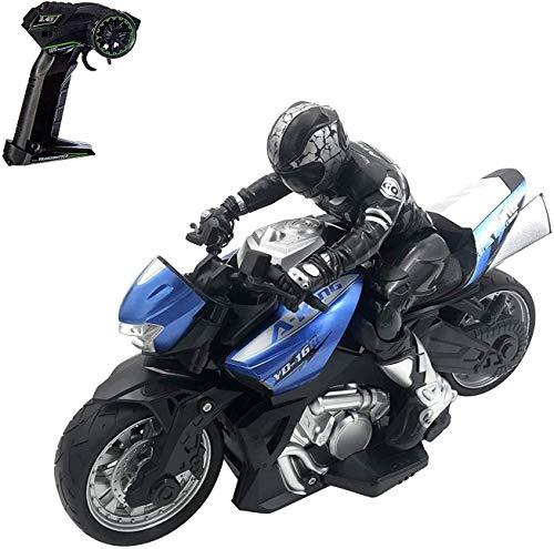 Mopoq 1/10 Fernbedienung Motorrad Spielzeug Stunt Performing Auto spielt Wiederaufladbare RC Motor Bike Safe &...