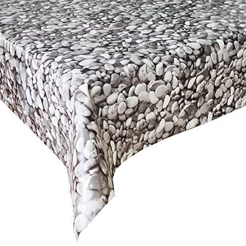 Mantel Hule Zen Gris · Mantel Antimanchas Resistente y Lavable · Mantel Mesa Rectangular en PVC · Hules para Mesas · Múltiples Diseños y Económicos · Medidas ( 260/280 cm x 140 cm )