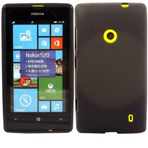 Carcasa de Gel Suave Katinkas para Nokia Lumia 520 - Negro