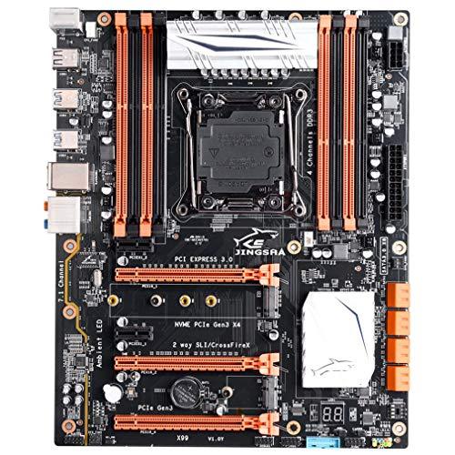 Placa Base X99 Placa Base LGA 2011-3 Soporte Intel Xeon E5-2678v3 / 2669v3 Negro