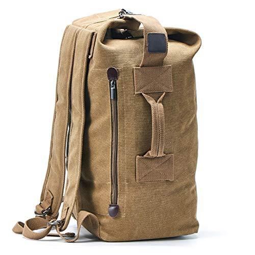 KEEPMOVE バックパック メンズ アウトドア 旅行 人気 大容量 リュックサック 登山 2way (新しい カーキ, 30L x 20W x 55Hcm)