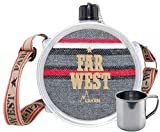 Gourde Laken, Far West 1.5L+Campingtasse