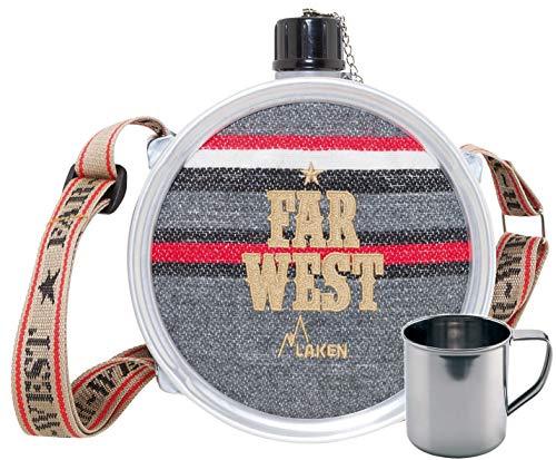 Laken Cantimplora Far West 1,5 L + Taza Acero Inoxidable 0,3 L