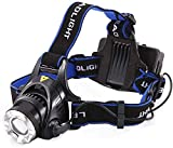 TOPHAVEN Plastic Head Torch | Hands Free Head Flashlight LED Lmap Water Resistant