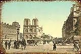 Notre Dame DE Paris Blechschilder Metall Poster Retro