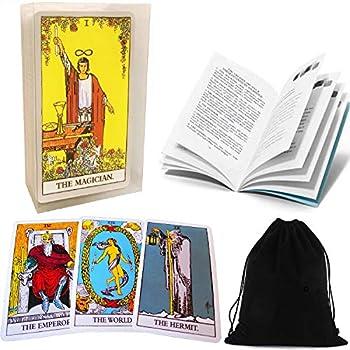 Tarot Cards Set Classic Rider Tarot Cards Deck with Transparent Case English Manual Guidebook and EBook  Optional  Original Pamela Colman Smith Artwork Portable Tarot Cards with Black Velvet Bag R