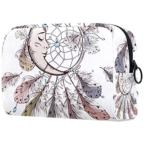 Kosmetiktasche Damen Taschen für Hautpflege Kosmetik Utility Bag mit Reißverschluss Tropische Pflanzen
