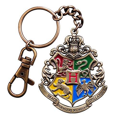 Harry Potter - Porte-clés en métal – Blason de Poudlard – Logo.