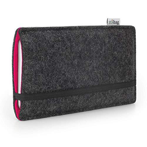 stilbag Funda de Fieltro 'Finn' para Samsung Galaxy Grand Prime - Color: Antracita/Rosa