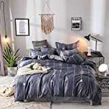 ZHQHHX Kit Respetuoso con la Piel Dyeing Aloe Kit de Piel de algodón Ropa de Cama for Dormitorio Funda de edredón de Cuatro Piezas 2 sábanas de Almohada Draps de Lit (Size : A)