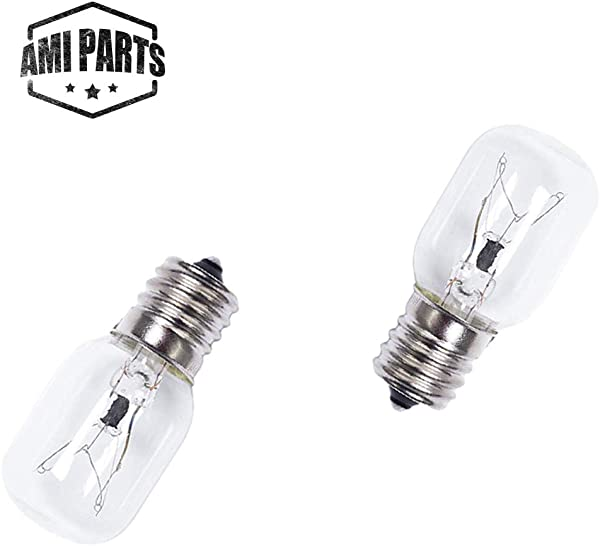 AMI PARTS 8206232A Bulb 40w 125v Microwave Oven Light Replacement Part For Whirlpool Kenmore Maytag Microwave 2pc