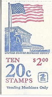 US Postage Stamp Vending Machine Booklet Ten 20 Cent Stamps US Supreme Court MNH