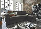 Atlantic Home Collection Dublin Schlafsofa mit Bettkasten, Polyester, Anthrazit, L-Form Sofa - 4