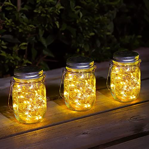 Solare Lanterne da Esterno – 3 Pezzi con 30 LED Impermeabile IP65 Luce Solare Decorativa...