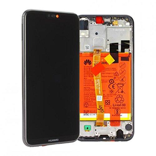 originale Display Schermo LCD Touch Huawei P20 Lite Nero Ricambio Batteria Vetro Flat Sensore Scocca Telaio 02351VPR