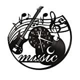 Music Vinyl Wall Clock,KingLive Record Clock ACDC Rock Wall Art for Man Women Kids Gifts 12 Inch