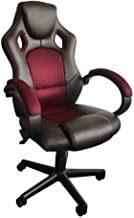 Danube Home Sparthan High Back Office Chair, Chocolate/Wine Red - 61 x 69 x 108-118 cm