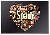 Lista de ciudades y pueblos en España, Word Cloud Collage, Illustration – Imán clásico para nevera
