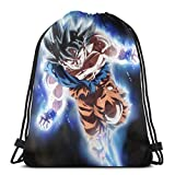 Goku Ultra Instinct Drago-n Ba-ll 7 Drawstring Bag Sport Gym Gift Bag Backpack Storage Goodie Cinch Bag
