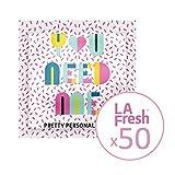La Fresh Travel Feminine Hygiene Wipes - Portable and Discreet - 50 Individually Sealed Packets