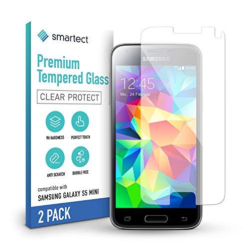 smartect Cristal Templado para Móvil Samsung Galaxy S5 mini [2 Unidades] - Protector de pantalla 9H - Diseño ultrafino - Instalación sin burbujas - Anti-huella