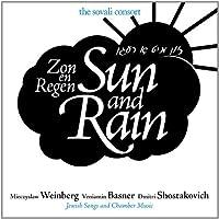 Sun & Rain-Jewish Songs & Chamber Music By Mieczys