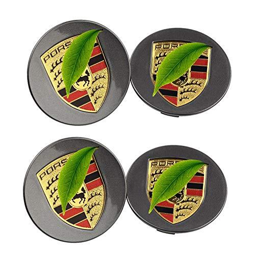 WANGXL 4 Piezas Tapa De Cubo De Rueda, para Porsche Tapas De Cubo Center De 76mm 65mm LevitacióN MagnéTica con Luz Led Impermeable