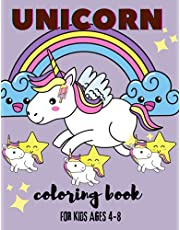 Unicorn Coloring Book for Kids Ages 4-8: Unicorn Coloring Book for Kids Ages 4-8 (Coloring Books for Kids), 100 pages.
