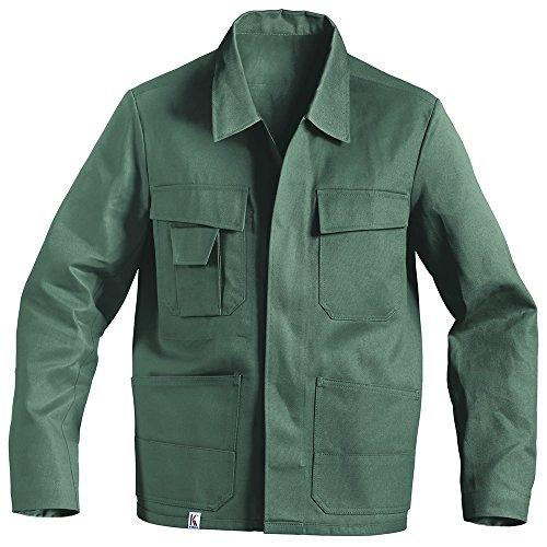 KÜBLER QUALITY DRESS Arbeitsjacke grün, Größe 60, Herren-Arbeitsjacke aus Baumwolle, bequeme Arbeitsjacke von KÜBLER Workwear