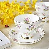 Zodensot Juego de café de porcelana de hueso europeo creativo simple plato de porcelana de cerámica tarde té taza de leche 200 ml (B)